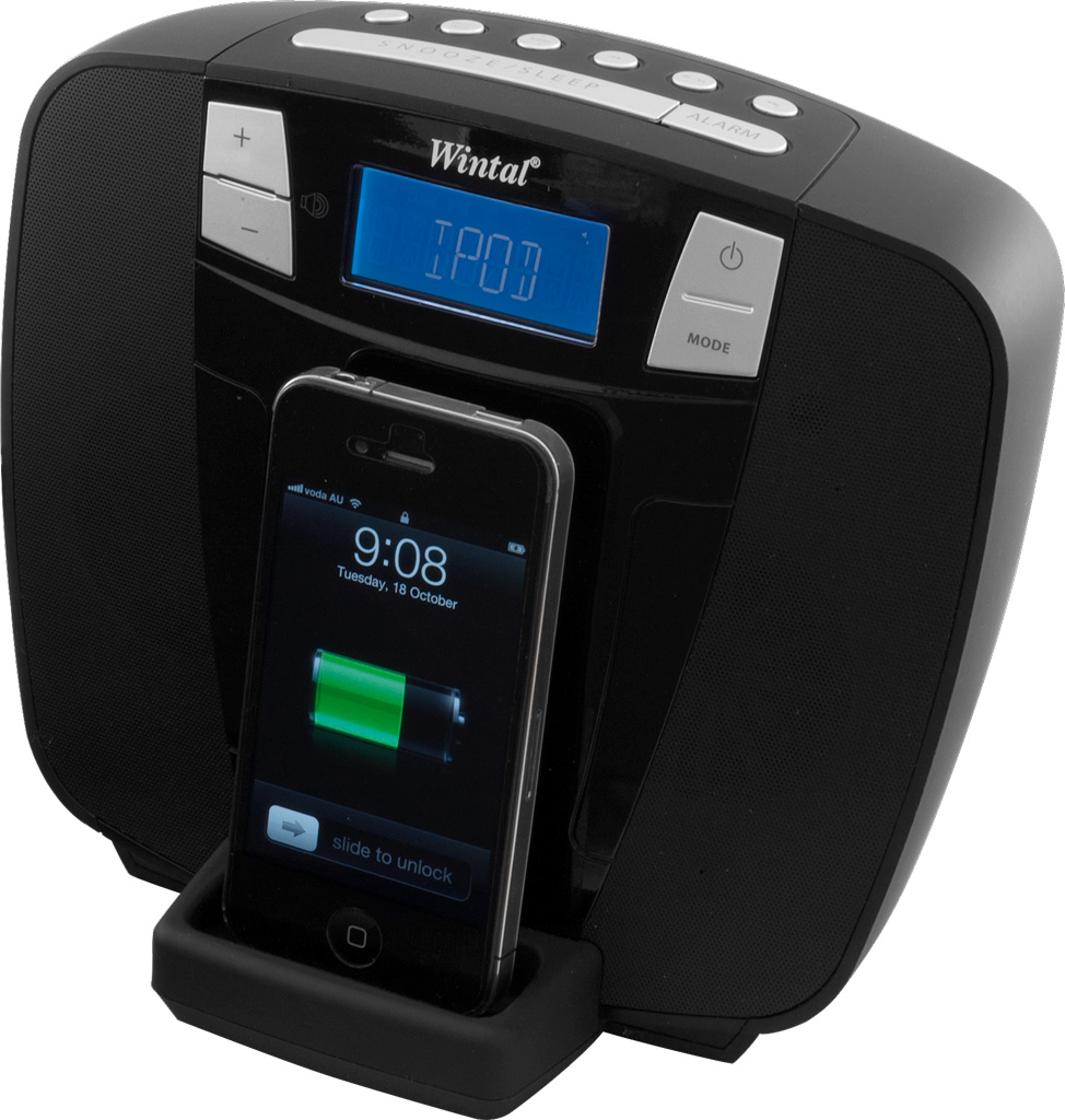 dab clock radio iphone dock wintal. Black Bedroom Furniture Sets. Home Design Ideas